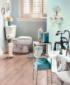 The antiqued finish of this Vintage Victorian Bathroom Collection creates a…