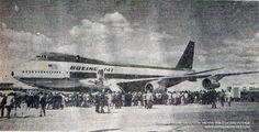 La primera visita de un Boeing 747 a la Argentina
