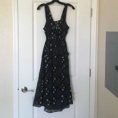 Free people black long sundress sz XS coachella Super cute perfect and light weight for summer time sz XS no trades Free People Dresses