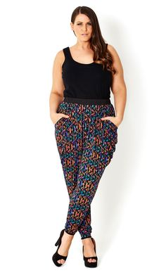 Plus size harem pants pattern