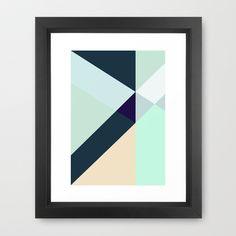 GREEN+LOVES+BLUE+Framed+Art+Print+by+RK+//+DESIGN+-+$40.00