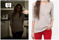 Hanna (s02e18) - BDG Speckled Raglan Tunic - $54 (urban outfitters)