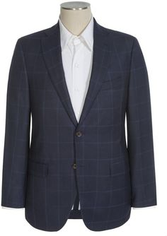$439, Navy Plaid Blazer: David Donahue Carey Glen Plaid Sport Coat. Sold by Sierra Trading Post. Click for more info: https://lookastic.com/men/shop_items/298610/redirect