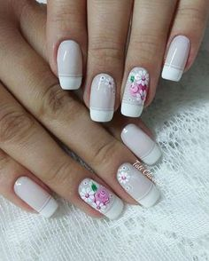 Most Gorgeous Nails Art design for weekend party 2018 - Design Group 3 French Acrylic Nails, French Nails, Cute Nails, Pretty Nails, Acryl Nails, Manicure E Pedicure, Gel Nail Designs, Stylish Nails, Gorgeous Nails