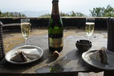 A champagne reception in the hills of Africa. Sounds magnificent, doesn't it?