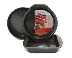 Baker's Secret Signature 3 piece Non-stick Bakeware Set :http://www.foryourchef.com/product/bakers-secret-5-piece-non-stick-bakeware-baking-set-copy/