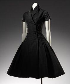 Zelie, cocktail dress, silk, Dior, 1957