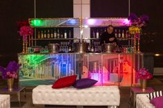 Lit Bars - Raise the Bar - Rent this bar for your wedding or event from Marbella Event Furniture and Decor Rental - www.marbellaeventrental.com