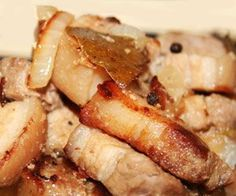 Pork Adobo in Salt  Filipino Style Recipe: pork adobo in salt or adobong baboy sa asin is a popular dish in Bicol Region. Normally the pork boiled with vinegar, garlic, laurel and salt until all the liquid is absorbed. Sometimes they called it white adobo or adobong puti.