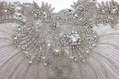 B Fabrics | Sequins & Crystal Embroidered Tulle Bodice