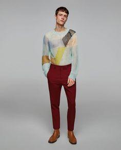 Imagine 1 din PULOVER CU MOTIVE INTARSIA ŞI AJURURI de pe Zara