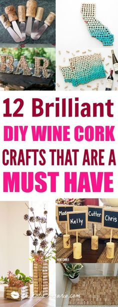 Where are all my fellow wine lovers at?! This is amazing! I love this craft idea. Turn wine corks into awesome DIY crafts, home decor and gift ideas. This is so cool! I love it! Perfect for wine lovers! Pinning for later! #GiftsForWineLovers #winecorkcrafts