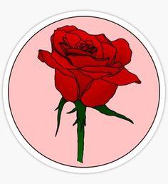 Pegatina Retro Rose