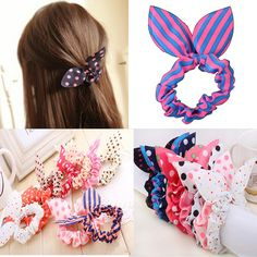 rabbit ear hair ties