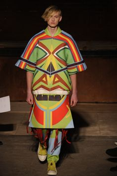 Savage body, Young Hwan Yang, london college of fashion, lc:m, mens fashion 15, Tribalism, Papua New Guinea, Digital Print, Neoprene, Sports luxe, photographed by Roger Dean