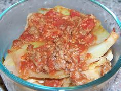 Cabbage with Beef and Tomato - Comfort Food! One cup of boiled cabbage has about 3.9g carbs and over 90% of the recommended daily allowance of vitamin K. -  Carbs per serving: 4.6g
