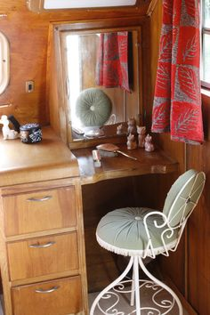 Now this is Glamping...Vintage camper.