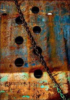 Rust on a ship is a definite no-no, but I don't know for sure if this is a vessel.