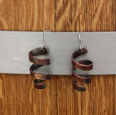 Copper Stairway - 8 gauge copper wire fired and folded to form a spiral. by artiumdesigns on Etsy