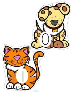 ***FREE***  PETS counting 0-20 This is a set of pets, numbered 0-20, to use for early learners - preschool, pre-K and Kindergarten. Large pieces for little hands. Pets included are: dog, cat, hamster, fish, snake, rabbit, bird, parrot, mouse, and turtle.