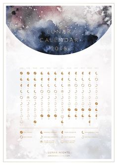 If you need a calendar for look no further. Here are free printable 2018 calendars, organized into 8 separate categories for easy pickings. Lunar Calendar 2018, Moon Calendar, Cosmic Calendar, Diy Calendar, Bullet Journal 2019, Bullet Journal Inspiration, Bullet Journal Calendrier, Lunar Phase, Moon Magic