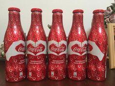 Coca cola Romania bottle Empty Aluminium 2016 Valentines Day.
