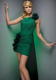 Party Dresses - Party Dresses For Women - Green Cocktail Dresses