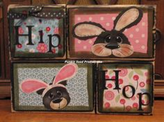 Hip Hop Whimisical Easter Blocks by PunkinSeedProduction on Etsy, $29.00