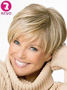 RZWD - Parrucca da donna con capelli veri RZWD…