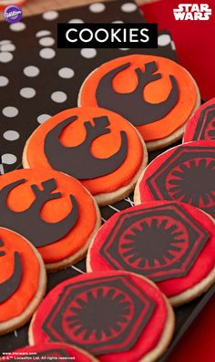 Star Wars Cookies - Make these Star Wars cookies and decorate them with ready-to-use Decorator Icing perfectly tinted using the Color Right Performance Color System and melted Candy Melts Candy.