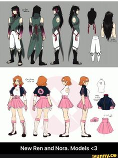 New Ren and Nora. Models <3 I am in love with Ren's hair