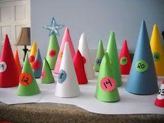 Bubbles and Blossoms: The McGaugh Family Blog: Cone Advent Calendar