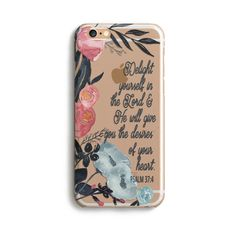 H123 - DELIGHT YOURSELF IN THE LORD - TPU Clear Case – Prone to Wander
