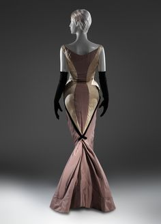 "Charles James (American, born Great Britain, 1906–1978). ""Diamond"" evening dress, 1957. Silk, synthetic. The Metropolitan Museum of Art, New York. Brooklyn Museum Costume Collection at The Metropolitan Museum of Art, Gift of the Brooklyn Museum, 2009; Gift of Marguerite Piazza, 1984 (2009.300.1015) #CharlesJames"