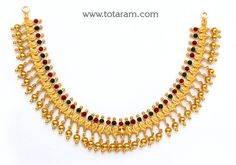 22K Gold 'Parrot' Necklace (Temple Jewellery)