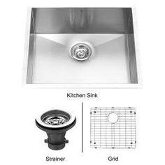 VIGO 23-Inch Undermount Stainless-Steel Kitchen Sink, Grid and Strainer with Mounting Hardware (maybe go with this smaller sink to make room for larger dishwasher) $237.99