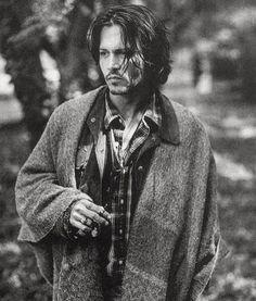 Imagem de johnny depp, black and white, and actor