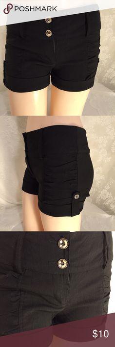 Cute black shorts!! FINAL CLEARANCE Cute black shorts w/silver buttons and cute belt Shorts