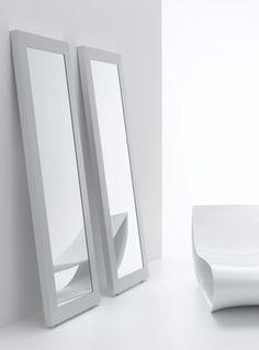 White interior, mirror by MDF Italia _