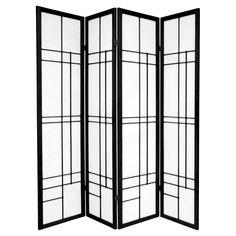 4 Panel Room Divider, Shoji Screen, Folding Room Dividers, Wall Dividers, Folding Screens, Oriental Furniture, Red Lantern, Art Nouveau, Art Deco