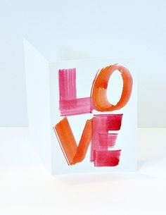 Make Watercolor Valentine Cards