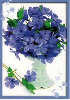 Kukkakortit ilman tekstiä