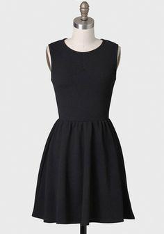 Textured Dress In Black