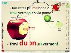 DUON- prefikso #migo #esperanto #gramatiko #duon #prefikso #pomo #vermo #akuzativo #tbelvorto #kio #pli #pliol #mal #prepozicio #en #frukto #besto