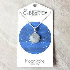 Rainbow Moonstone Necklace Charm Gift For Her Science Idea Space Rock Collection