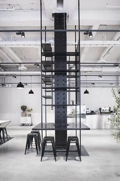 Before the one year long renovations, the premises were used by the Swedish Tax Agency and consisted of a maze of tiny meeting rooms with a ceiling height of 240 cm.The new space includes Bistro 38, Poche 36, café, take-away, reception and...