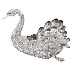 Buccellati Large Silver Swan Centerpiece