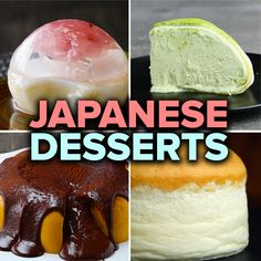 Featuring Giant Pumpkin Fondue Pudding, Cherry Blossom Raindrop Cake, Fluffy Jiggly Japanese Cheesecake and Giant Mochi Ice Cream Japanese Deserts, Japanese Pastries, Japanese Sweets, Japanese Food, French Pastries, Asian Desserts, Köstliche Desserts, Delicious Desserts, Dessert Recipes