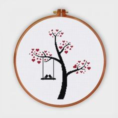 Funny & Cute - Ritacuna Cross Stitch Tree, Mini Cross Stitch, Counted Cross Stitch Kits, Cross Stitch Flowers, Cat Cross Stitches, Funny Cross Stitch Patterns, Cross Stitch Designs, Cross Stitch Embroidery, Hand Embroidery