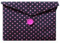 Dark Pink Polka Dot Print Gadget Cover